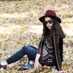 fashion blogger chaqueta de terciopelo