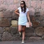 Outfit del día fashion blogger falda de forever 21 colores pasteles