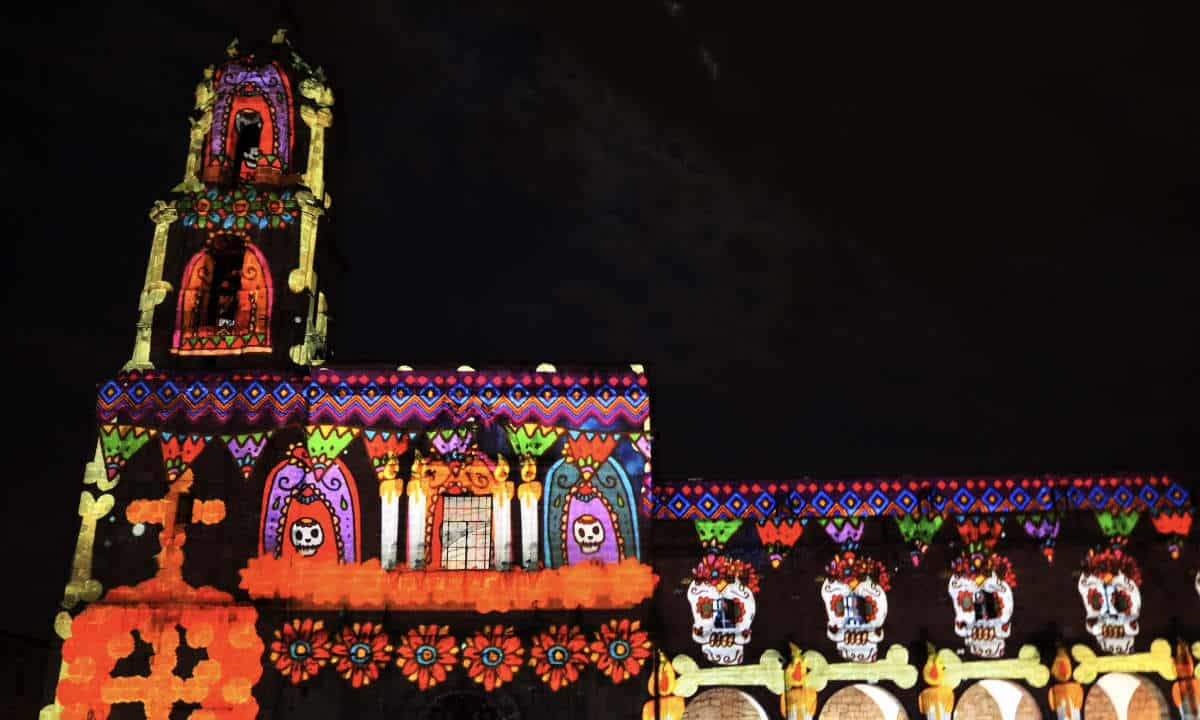 video mapping de Morelia